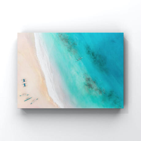 【Sarah Caudle / サラカードル】Lanikai Beach《Open Edition Resin Prints on Metal》12×16inch