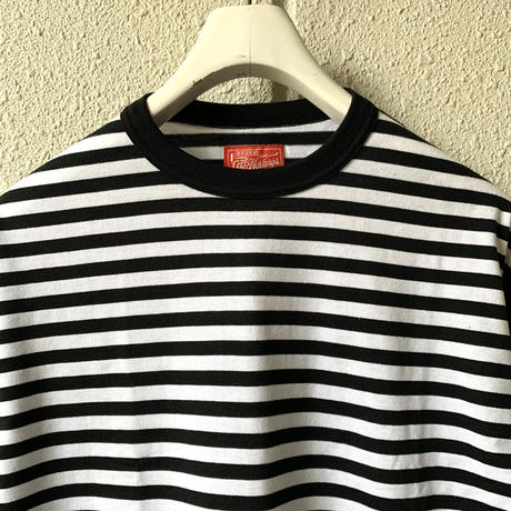 5656WORKINGS/SWITCHING BORDER L/S Tee_BLK×WHITE