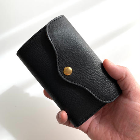5656WORKINGS/THREE-FOLD LEATHER WALLET_BLACK