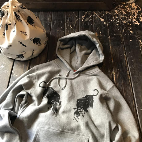 5656WORKINGS/BLK PANTHER PARTY HOODIE_GRAY