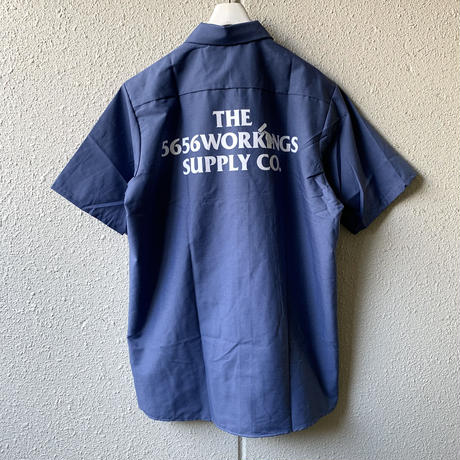 5656WORKINGS/NO.56 DELIVERY S/S SHIRT_POSTMAN BLUE