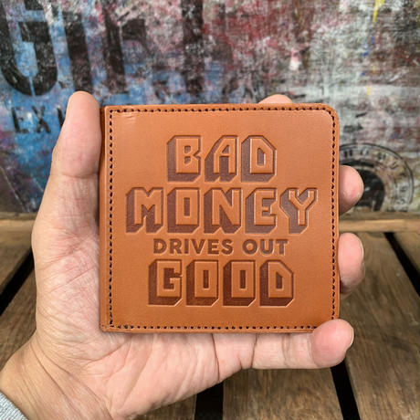 YONZY/B.M.D.O.G.SQUARE COIN WALLET_BROWN