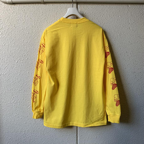 5656WORKINGS/PD TEAM L/S Tee_YELLOW