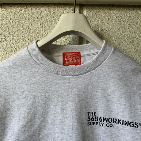 5656WORKINGS/PD TEAM L/S Tee_ASH
