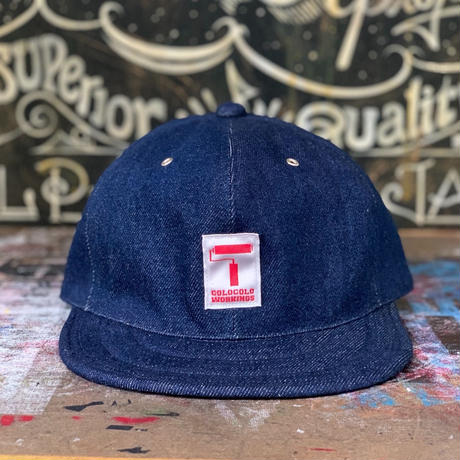 5656WORKINGS/INDIGO DENIM WORK CAP