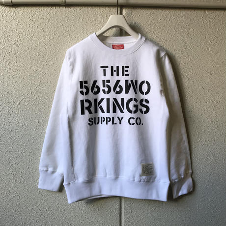 5656WORKINGS/CWS SWEAT UNIFORM_WHITE