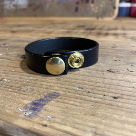 5656WORKINGS/NO.56 LEATHER BRACELET_BLACK
