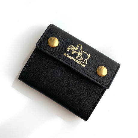 5656WORKINGS/LEATHER COINCASE_BLACK