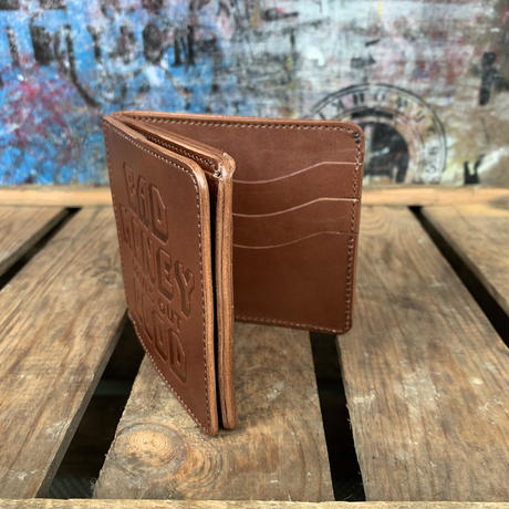 YONZY/B.M.D.O.G.SQUARE COIN WALLET_DRAK BROWN
