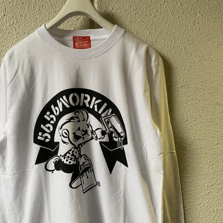 5656WORKINGS/5656BOY 20th ANNIVer. L /S_WHITE