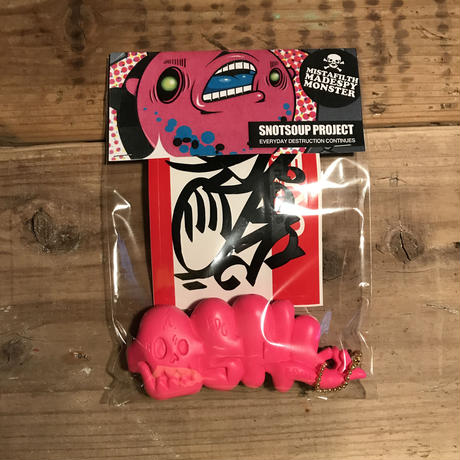 ESPYONE/SKULL THROW UP KEYCHAIN_T.PINK