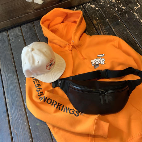 5656WORKINGS/PD TEAM HOODIE_FINE ORANGE