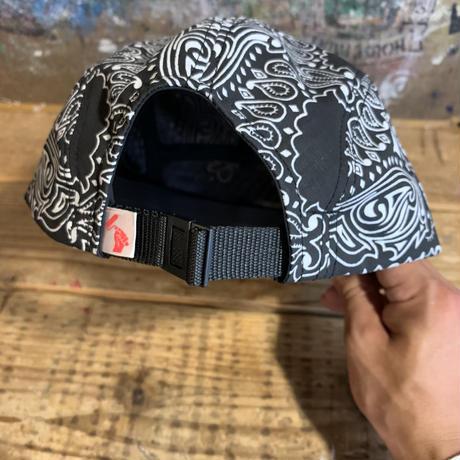 5656WORKINGS/BANDANNA 5PANEL CAP_BLACK