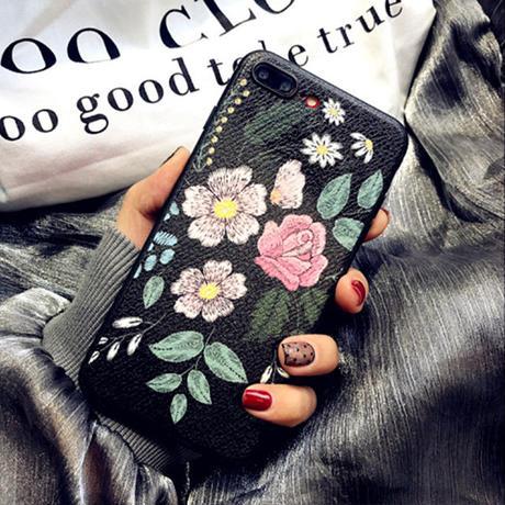 [NW495] ★ iPhone 6 / 6s / 6Plus / 6sPlus / 7 / 7Plus  / 8 / 8Plus / X ★ シェルカバー ケース カラフル 花柄 オリエンタル