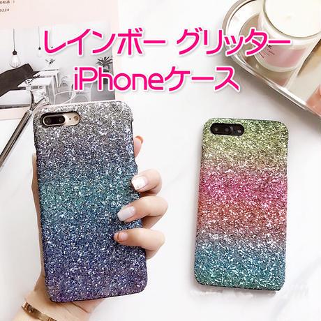 [NW075] ★ iPhone 6 / 6s / 6Plus / 6sPlus / 7 / 7Plus / 8 / 8Plus ★  シェルカバー ケース カラフル グリッター グラデーション