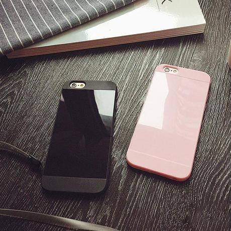 [NW194] ★ iPhone 6 / 6s / 6Plus / 6sPlus / 7 / 7Plus / 8 / 8Plus ★ シェルカバー ケース シンプル グロス アクリル ミラー
