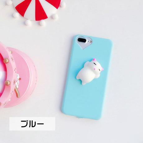 [NW338] ★ iPhone 6 / 6s / 6Plus / 6sPlus / 7 / 7Plus / 8 / 8Plus ★ シェルカバー ケース 猫 ぷにぷに マスコット にゃんこ