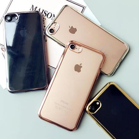 [NW209] ★ iPhone SE / 5 / 5s /  6 / 6s / 6Plus / 6sPlus / 7 / 7Plus / 8 / 8Plus ★ シェルカバー メタル バンパー