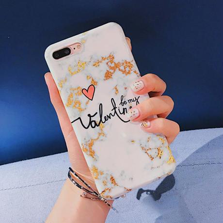 [NW204]★ iPhone 6 / 6s / 6Plus / 6sPlus / 7 / 7Plus / 8 / 8Plus ★ シェルカバー ケース 大理石 英語 文字 ハート