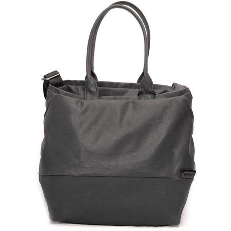 【28329】★Kalix Tote Bag M Coated Canvas Lava Rock Black Cote&Ciel コートエシエル ショルダーバック