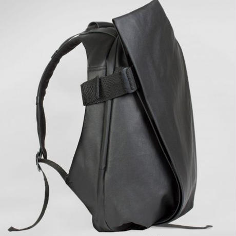 【28331 】ISAR  COATED CANVAS AND LEATHER - Black  Cote&Ciel コートエシエル リュックサック