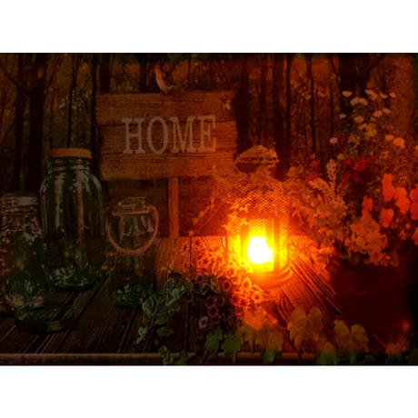 【暗闇で淡く光る】LEDアートフレーム/ホーム【ただの絵画じゃないんです🖤】