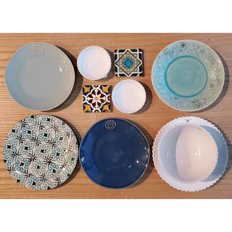 【COSTA NOVA】サラダプレート 21cm/デニム【皿 食器 おしゃれ 結婚祝 プレゼント 陶器 コスタノバ】