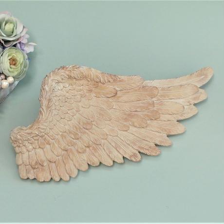 【幸運アイテム、天使の羽】バロックウィングセット/ホワイトL【アンティーク、子供部屋、店舗装飾、美容院、サロンなどに】