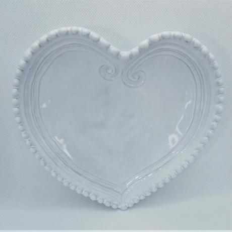 【イタリア製】ラ・セラミカ ハートプレート ホワイト【ポップな🖤型なのに高級感も両立!母の日ギフトにいかがしょう?】