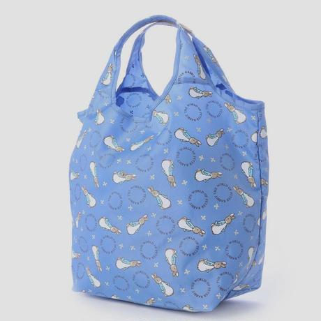 【重たい日用品も好きなキャラクターグッズでハッピーに♪】【ピーターラビット】コンパクトショッピングバッグ