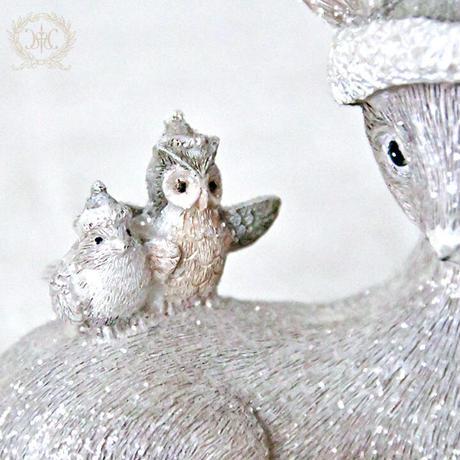 【アニマルオブジェ】シッティングバンビ【ハルモニア 鹿 冬グッズ 置物 癒し】