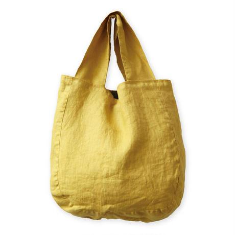 【lino e lina】リバーシブルバッグ ポントワーズ イエロー【高級リネン 麻 トートバッグ  手提げバッグ かわいい おしゃれ ナチュラル】