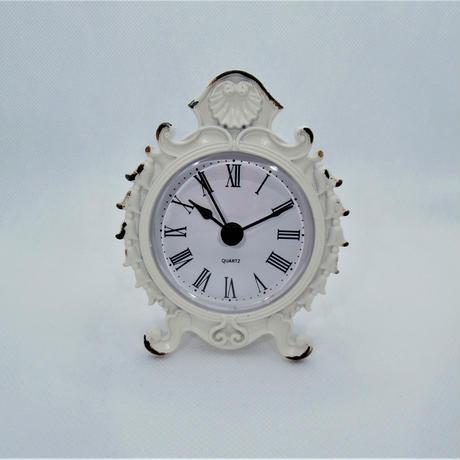 【アンティーク雑貨、時計、置時計、貝殻】ホワイトシェル・クロック