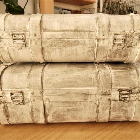 【置物or小物入れorインテリア】トランクケース2点セット【アンティーク、欧米、北欧、家具】