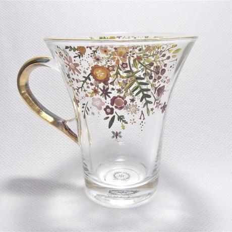 【春を満喫!お友達を呼びたくなる】フラワーバタフライカップ&ソーサ【紅茶、ハーブティー、おうちでティーパーティー】