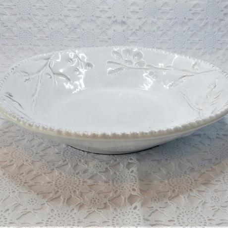 【イタリア製】ラ・セラミカ フラワースープ/PLT【縁の装飾が存在感をアップさせてますね】