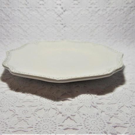 【イタリア製】ラ・セラミカ プレート21/クリーム【写真じゃ伝わりづらいですが、とても可愛いクリーム色です!】