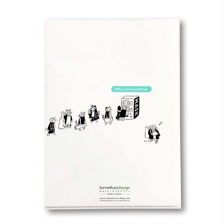 『防疫音楽猫オーケストラ』クリアファイル|音楽雑貨