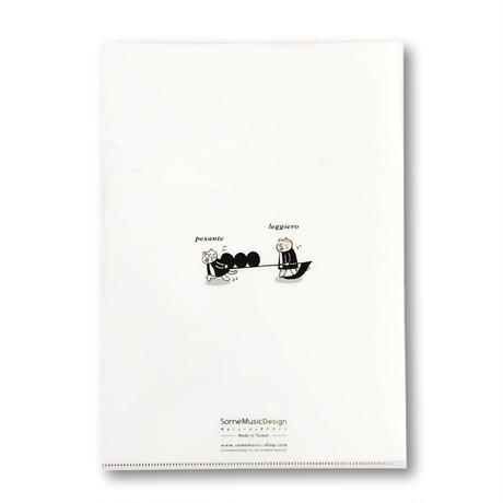 『音楽用語』クリアファイル 音楽雑貨