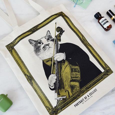 クラシックキャットトートバッグ-チェロ 音楽雑貨