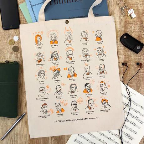 音楽トートバッグ-音楽家落書き|音楽雑貨