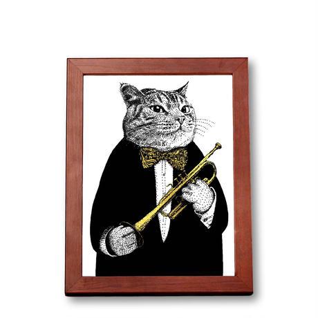 クラシックキャット肖像画 -  トランペット|音楽雑貨