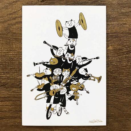 音楽サーカスはがき - Bike|音楽雑貨