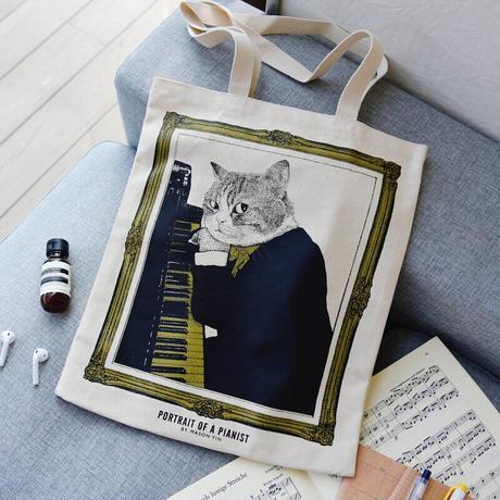クラシックキャットトートバッグ - アップライトピアノ|音楽雑貨