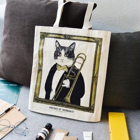 クラシックキャットトートバッグ - トロンボーン|音楽雑貨