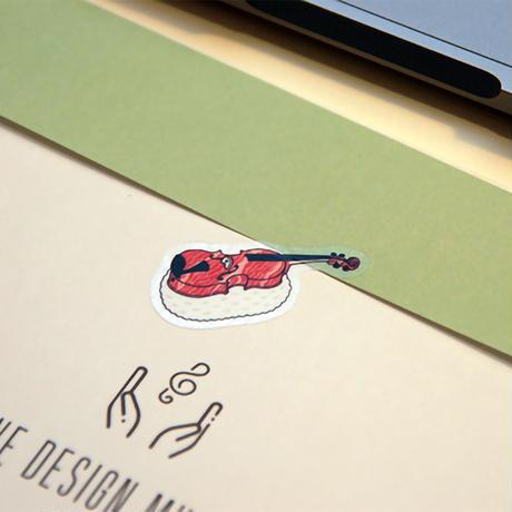 音楽寿司 シール - クラリネット (5枚入り)|音楽雑貨