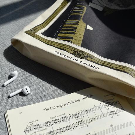 クラシックキャットトートバッグ- フルート|音楽雑貨