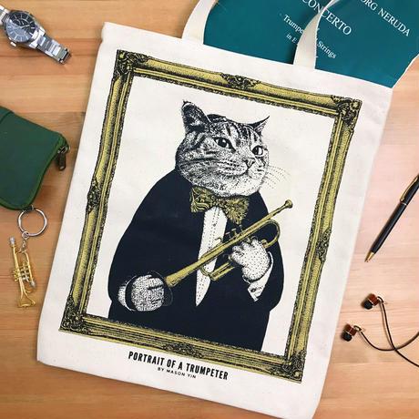 クラシックキャットトートバッグ-トランペット|音楽雑貨