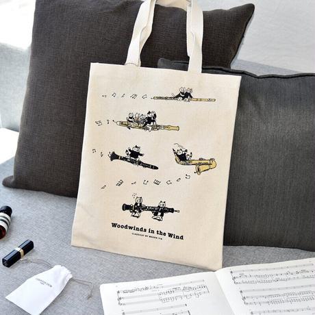 音楽トートバッグ-木管音楽猫 音楽雑貨