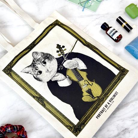 クラシックキャットトートバッグ-バイオリン|音楽雑貨